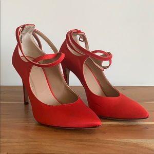 Statement red pointed heels